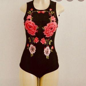 Haute Monde Mesh Floral Bodysuit